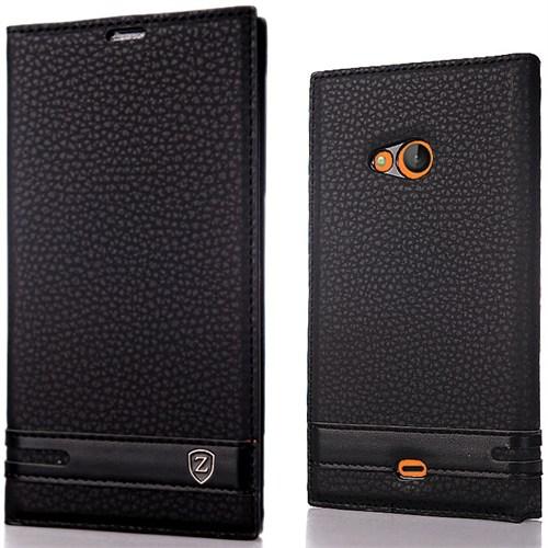 CoverZone Microsoft Lumia 540 Kılıf Elite Deri Siyah