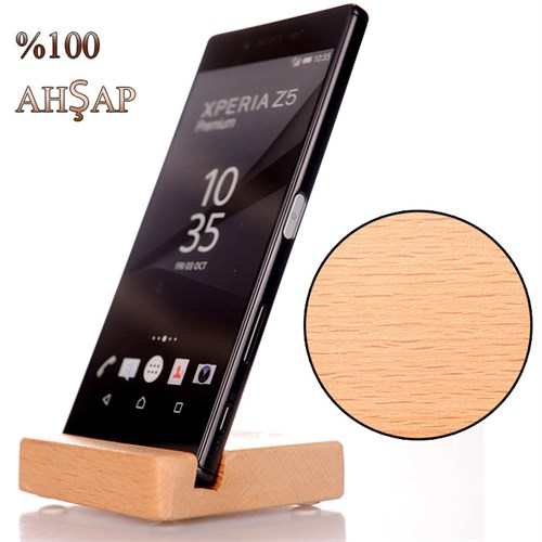 Sony Xperia M5 Ahşap Stand Basic Dizayn El Yapım