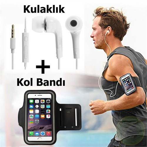 Kılıfland Sony Xperia Z Kol Bandı Spor Ve Koşu + Kulaklık