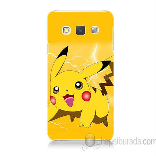Teknomeg Samsung Galaxy A3 Kapak Kılıf Pokemon Pikachu Baskılı Silikon