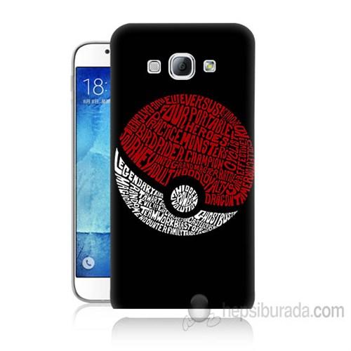 Teknomeg Samsung Galaxy A8 Kapak Kılıf Pokemon Pokeball Baskılı Silikon