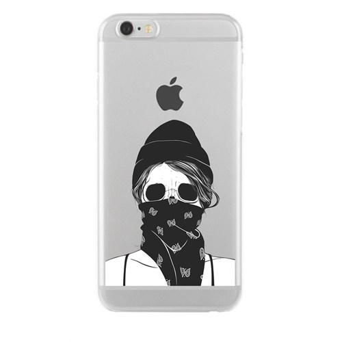 Remeto Samsung Galaxy J5 Transparan Silikon Resimli Maskeli Kız