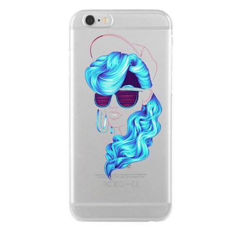 Remeto Samsung Galaxy Note 5 Mavi Bukleli Model Transparan Silikon Resimli Kılıf