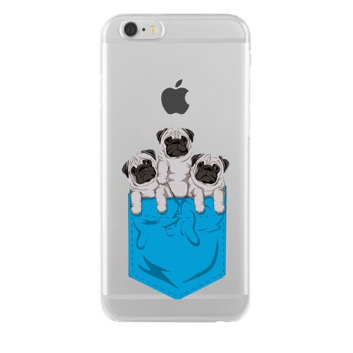 Remeto Samsung Galaxy Note 5 Transparan Silikon Resimli Yavru Köpekler Cepte