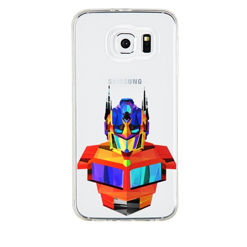 Remeto Samsung Galaxy Note 5 Transparan Silikon Resimli Transformers Optimus Prime