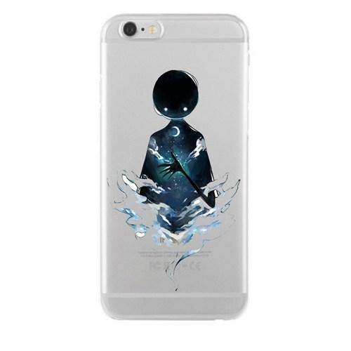 Remeto Samsung Galaxy Note 4 Transparan Silikon Resimli Gecenin Hayaleti