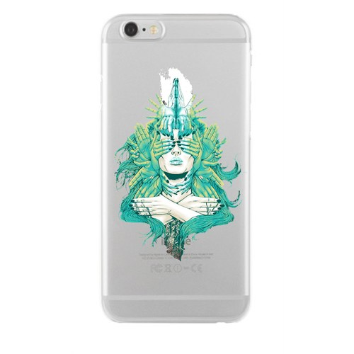 Remeto Samsung Galaxy Note 4 Transparan Silikon Resimli Pipolu Kurukafa