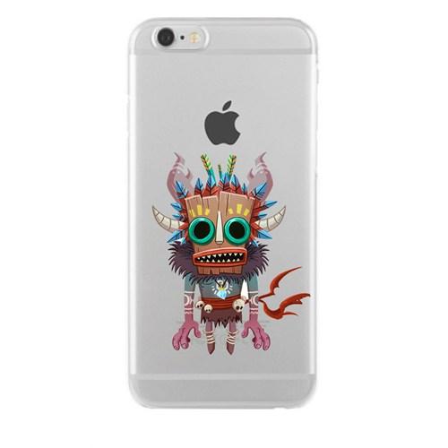 Remeto Samsung Galaxy Note 4 Transparan Silikon Resimli Maskeli Kızılderili