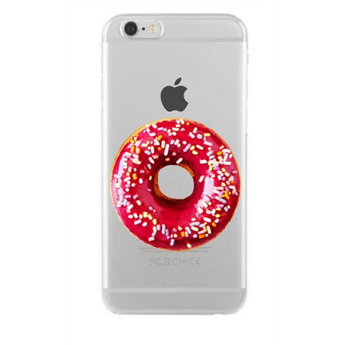 Remeto Samsung Galaxy Note 4 Transparan Silikon Resimli Donut