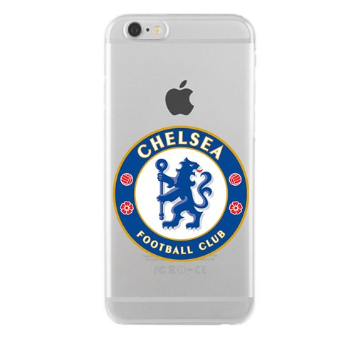 Remeto Samsung Galaxy E5 Transparan Silikon Resimli Chelsea Logo