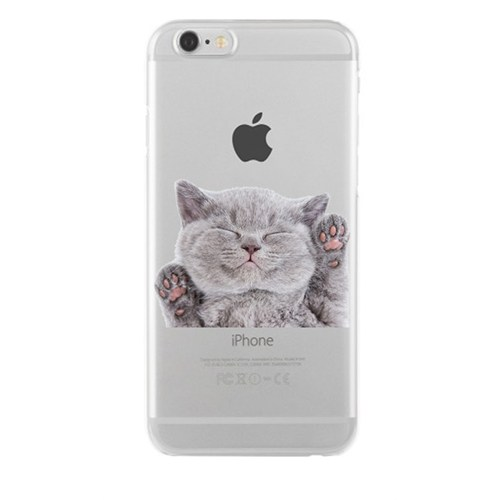Remeto Samsung Galaxy E5 Transparan Silikon Resimli Kedi Tasarımlı