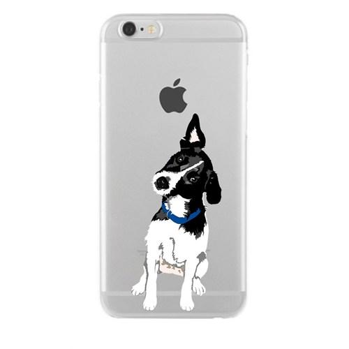 Remeto Samsung Galaxy E7 Transparan Silikon Resimli Şaşkın Köpek