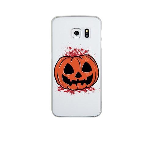 Remeto Samsung Galaxy E7 Cadılar Partisi Balkabağı Transparan Silikon Resimli Kılıf