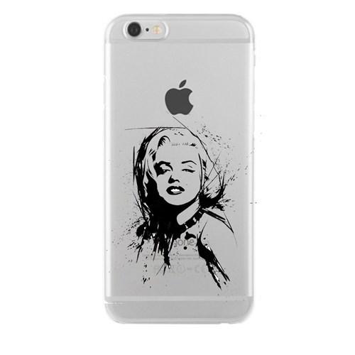 Remeto Samsung Galaxy E7 Marilyn Monroe Transparan Silikon Resimli Kılıf
