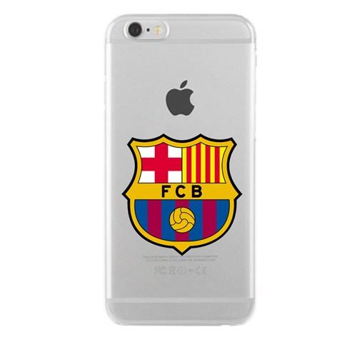 Remeto Samsung Galaxy E7 Transparan Silikon Resimli Barcelona Logo