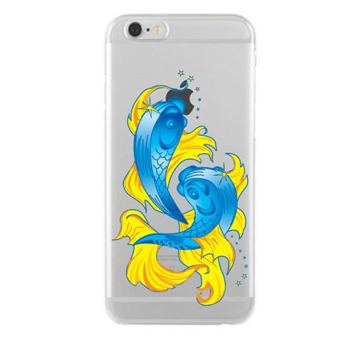 Remeto Samsung Galaxy E7 Transparan Silikon Resimli Balık Borçu