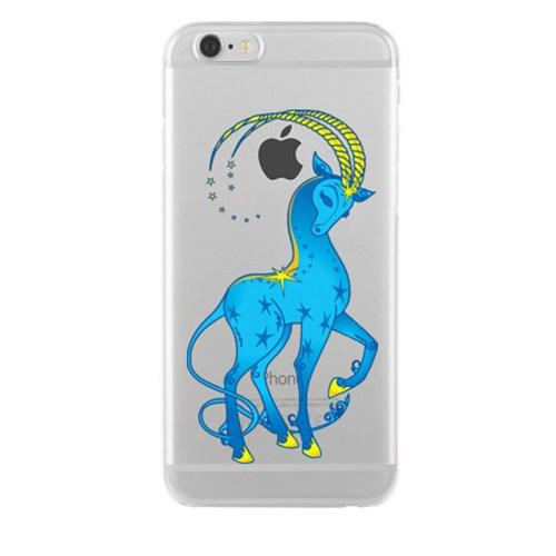 Remeto Samsung Galaxy E7 Transparan Silikon Resimli Keçi Borçu