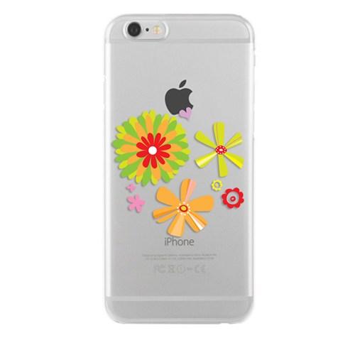 Remeto Samsung Galaxy E7 Transparan Silikon Resimli Çiçek