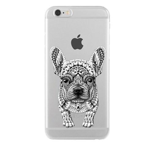 Remeto LG G4 Mozaik Sevimli Köpek Transparan Silikon Resimli Kılıf