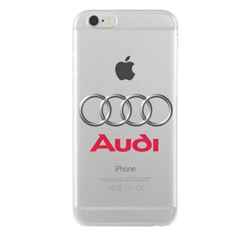 Remeto Samsung Galaxy S3 Mini Audi Logo Transparan Silikon Resimli Kılıf