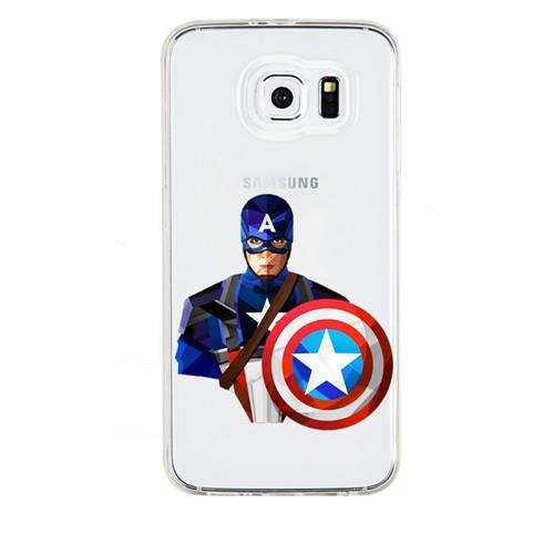 Remeto Samsung Galaxy S3 Mini Transparan Silikon Resimli Captain America
