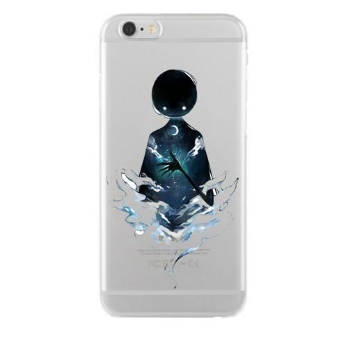 Remeto Samsung Galaxy S4 Mini Transparan Silikon Resimli Gecenin Hayaleti