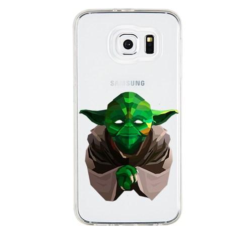 Remeto Samsung Galaxy S4 Mini Transparan Silikon Resimli Star Wars Yoda