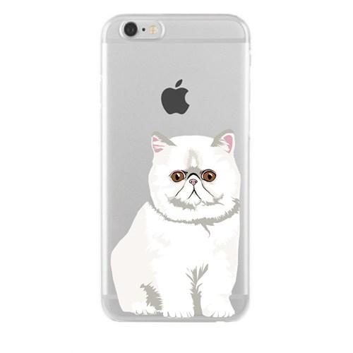 Remeto Samsung Galaxy S5 Mini Transparan Silikon Resimli Şaşkın Kedi Kedisi