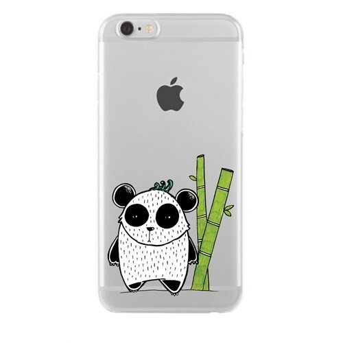 Remeto Samsung Galaxy S5 Mini Transparan Silikon Resimli Bambulu Panda