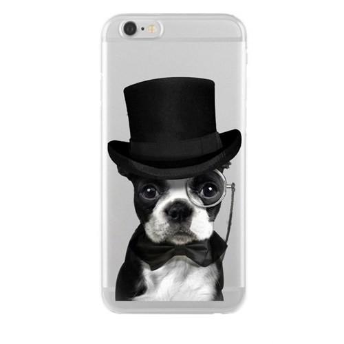 Remeto Samsung Galaxy S5 Mini Soylu Köpek Transparan Silikon Resimli Kılıf