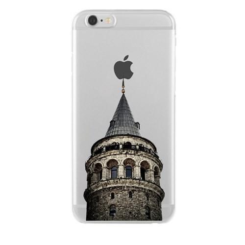 Remeto Samsung Galaxy S5 Mini Transparan Silikon Resimli Galata Kulesi