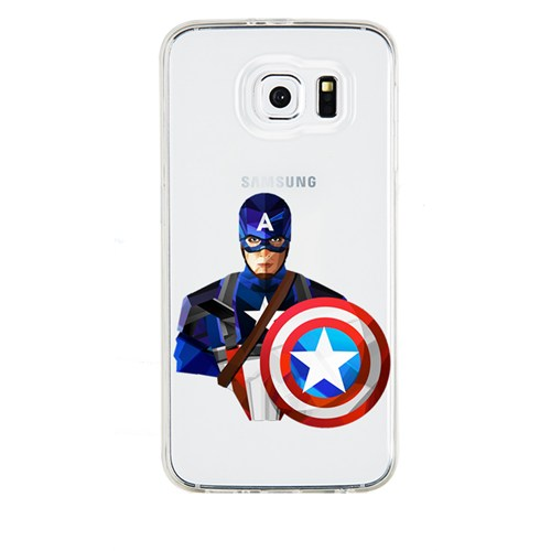 Remeto Samsung Galaxy S5 Mini Transparan Silikon Resimli Captain America