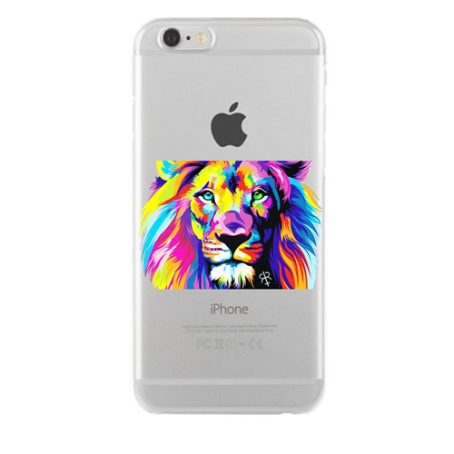 Remeto Samsung Galaxy S3 Transparan Silikon Resimli Renkli Aslan Tasarımlı