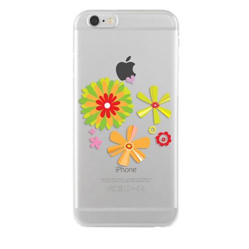 Remeto Samsung Galaxy S3 Transparan Silikon Resimli Çiçek