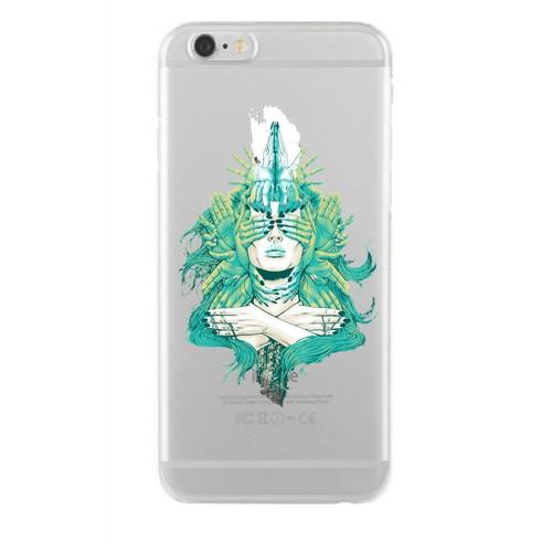 Remeto Samsung Galaxy S4 Transparan Silikon Resimli Pipolu Kurukafa