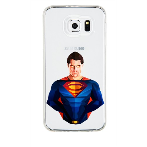 Remeto Samsung Galaxy A5 Transparan Silikon Resimli Superman