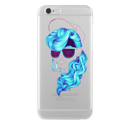 Remeto Samsung Galaxy A7 Mavi Bukleli Model Transparan Silikon Resimli Kılıf