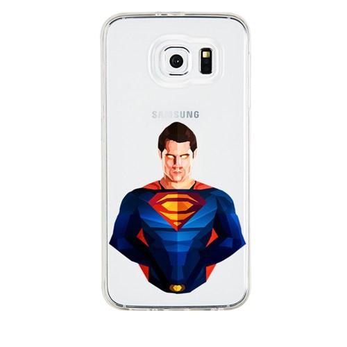 Remeto Samsung Galaxy A7 Transparan Silikon Resimli Superman