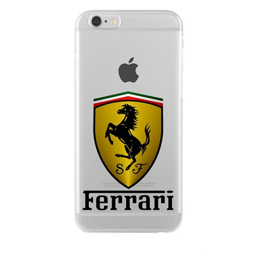Remeto Samsung Galaxy A8 Transparan Silikon Resimli Ferrari Logo