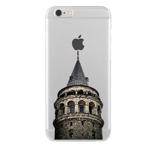 Remeto Samsung Galaxy A8 Transparan Silikon Resimli Galata Kulesi