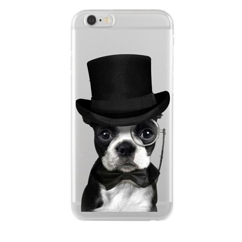 Remeto Samsung Galaxy J1 Soylu Köpek Transparan Silikon Resimli Kılıf