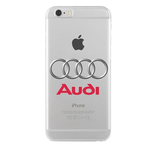 Remeto Samsung Galaxy J1 Audi Logo Transparan Silikon Resimli Kılıf
