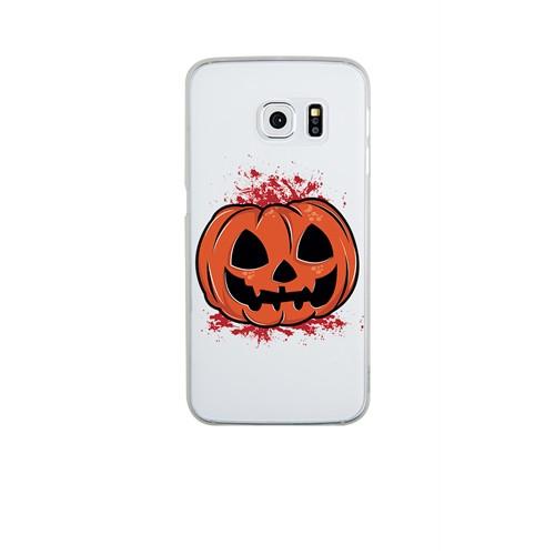 Remeto Samsung Galaxy A3 Cadılar Partisi Balkabağı Transparan Silikon Resimli Kılıf