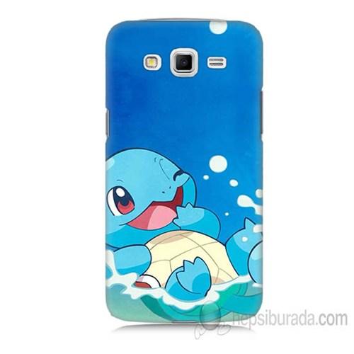 Teknomeg Samsung Galaxy Grand 2 Kapak Kılıf Pokemon Squirtle Baskılı Silikon