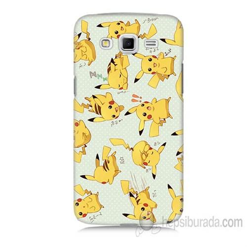 Teknomeg Samsung Galaxy Grand 2 Kapak Kılıf Pokemon Pikachu Baskılı Silikon