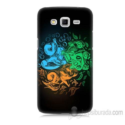 Teknomeg Samsung Galaxy Grand 2 Kapak Kılıf Pokemon Baskılı Silikon