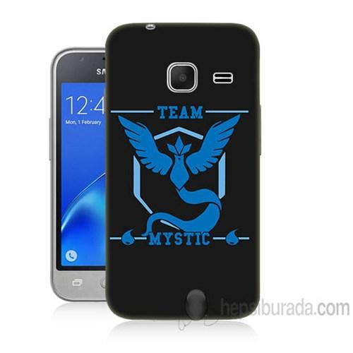Teknomeg Samsung Galaxy J1 Kapak Kılıf Pokemon Team Mystic Baskılı Silikon