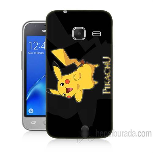 Teknomeg Samsung Galaxy J1 Kapak Kılıf Pokemon Pikachu Baskılı Silikon