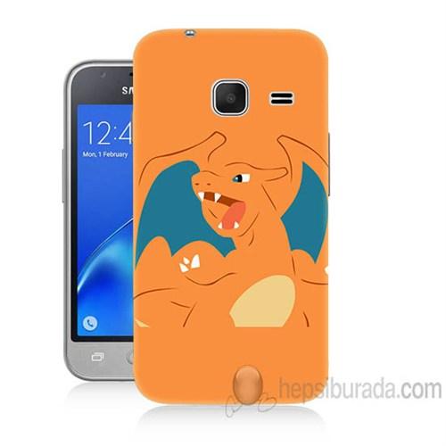 Teknomeg Samsung Galaxy J1 Kapak Kılıf Pokemon Charmander Baskılı Silikon