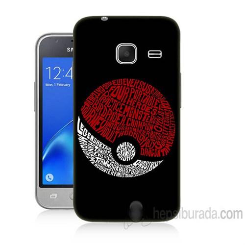 Teknomeg Samsung Galaxy J1 Kapak Kılıf Pokemon Pokeball Baskılı Silikon